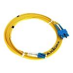 Network cable - SC single-mode (M) to SC single-mode (M) - 82 ft - fiber optic - 9 / 125 micron - OS2 - riser - yellow