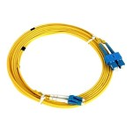 Network cable - SC single-mode (M) to LC single-mode (M) - 23 ft - fiber optic - 9 / 125 micron - OS2 - yellow
