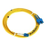 Network cable - SC single-mode (M) to LC single-mode (M) - 33 ft - fiber optic - 9 / 125 micron - OS2 - yellow