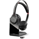 Voyager Focus UC B825 - Headset - on-ear - wireless - Bluetooth - active noise canceling - UC Standard version
