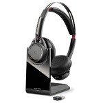 Voyager Focus UC B825-M - Headset - on-ear - wireless - Bluetooth - Wireless Range : 30m - active noise canceling - for Microsoft Lync