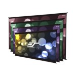 DIY Wall 2 Series DIYW135H2 - Projection screen - wall mountable - 135 in (135 in) - 16:9 - MaxWhite B - black