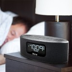 Bluetooth Stereo FM Clock Radio and Speakerphone with USB Charging - Black