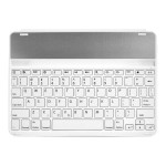 KeyFolio Thin X2 - Keyboard and folio case - Bluetooth - US - white keyboard , white case - for Apple iPad Air