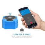 e-matic Ripple Bluetooth Speaker and Speakerphone - Rugged & Blue RIPPLE