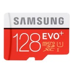 Samsung EVO+ MB-MC128DA - Flash memory card ( microSDXC to SD adapter included ) - 128 GB - UHS Class 1 / Class10 - microSDXC UHS-I MB-MC128DA/AM