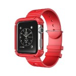 42mm Rugged Protective Case with Wristband for Apple Watch - Red