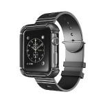 38mm Rugged Protective Case with Wristband for Apple Watch - Black