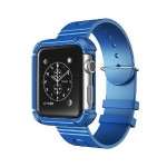 42mm Rugged Protective Case with Wristband for Apple Watch - Navy
