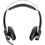 Voyager Focus UC B825-M - No charging stand - headset - on-ear - Bluetooth - wireless - active noise canceling - for Microsoft Lync