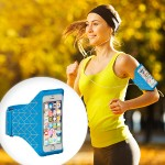 armband - Arm pack for cell phone - nylon - blue - for Apple iPhone 6s & 6