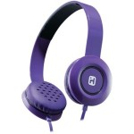 iHome iB35 Stereo Headphones with Flat Cable - Violet IB35UBC