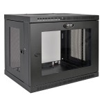 SmartRack 9U Wall-Mount Standard-Depth Rack Enclosure Cabinet, Plexiglass Front Door Insert