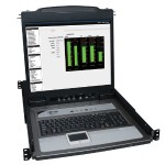 NetDirector 16-Port 1U Rack-Mount Console KVM Switch w/19-in. LCD + 8 PS2/USB Combo Cables