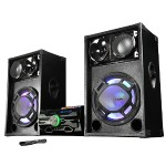 """2 X 15"""" Professional Active Speaker with Bluetooth & Multimedia Player"""