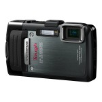 Olympus Stylus Tough TG-830 iHS - Digital camera - compact - 16.0 MP - 5 x optical zoom - underwater up to 30ft - black - with  8x21 RC II WP binoculars (magenta) V104130BU020