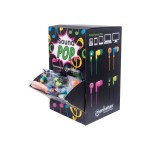 Manhattan Products Manhattan SoundPOP - Earphones - in-ear - black/green, orange/blue, teal/yellow, pink/fuschia ( pack of 40 ) 178822