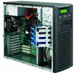 Supermicro SC732 D3-903B - Mid tower - extended ATX 900 Watt - black - USB/Audio