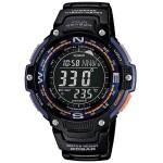 Twin Sensor Digital Watch - Black, Bluegreen Light