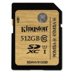 Kingston 512GB SDXC 300X Class 10 UHS-1 Memory Card SDA10/512GB