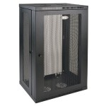 21U Wall Mount Rack Enclosure Cabinet Wallmount with Doors & Sides 200lb Capacity