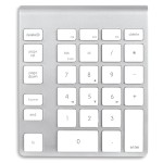 Wireless Aluminum Keypad - White