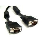 Micro Connectors 15ft Double Shielded SVGA / VGA Monitor Replacement Cable HD15 M/M M05-112EDS