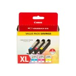 CLI-271 XL Value Pack - 3-pack - yellow, cyan, magenta - original - ink tank - for PIXMA MG5720, MG5721, MG5722, MG6820, MG6821, MG6822, MG7720