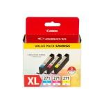 CLI-271 XL Value Pack - 3-pack - yellow, cyan, magenta - original - ink tank - for PIXMA MG5720, MG5721, MG5722, MG6821, MG6822, MG7720, TS5020, TS6020, TS8020, TS9020