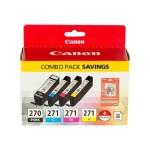 PGI-270/CLI-271 Combo Pack - 4-pack - black, yellow, cyan, magenta - original - ink tank - for PIXMA MG5720, MG5721, MG5722, MG6820, MG6821, MG6822, MG7720