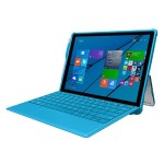 feather [HYBRID] Rugged Case with Shock Absorbing Frame for Microsoft Surface 3 - Cyan