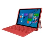 feather [HYBRID] Rugged Case with Shock Absorbing Frame for Microsoft Surface 3 - Red