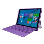 feather [HYBRID] Rugged Case with Shock Absorbing Frame for Microsoft Surface 3 - Purple