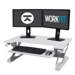 WorkFit-TL Sit-Stand Desktop Workstation - Stand for monitor / keyboard - white - table mount