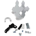 Thin Client Mount - Mounting kit (CPU holder, mounting hardware, strap, mounting pads) for personal computer - white - pole mount, under-the-desk