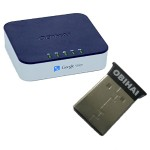 OBi202 VoIP Phone Adapter with OBiBT Bluetooth Wireless Adapter Bundle with Cell phone support