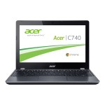 "Acer Chromebook C740-C3P1 - Celeron 3205U / 1.5 GHz - Chrome OS - 2 GB RAM - 16 GB SSD - 11.6"" 1366 x 768 ( HD ) - Intel HD Graphics - 802.11ac - iron IMR - with Gripcase Asset Armor NX.EF2AA.001-BUN"