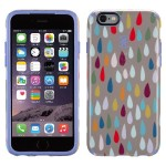 CandyShell Inked iPhone 6s & iPhone 6 Case - Rainbow Drop Pattern/Wisteria Purple