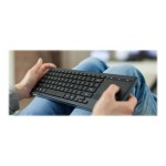 Illuminated Living-Room K830 - Keyboard - with touchpad - Bluetooth, 2.4 GHz - English