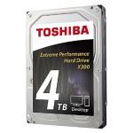 "Toshiba X300 - Hard drive - 4 TB - internal - 3.5"" - SATA 6Gb/s - 7200 rpm - buffer: 128 MB HDWE140XZSTA"