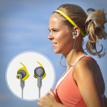 Sport Coach - Earphones with mic - in-ear - wireless - Bluetooth - NFC - yellow