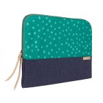 "13"" Grace Laptop Sleeve - Teal Dot"