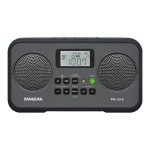 Sangean R-D19 - Portable radio - 1.4 Watt - gray, black PR-D19BK