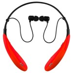 Bluetooth Wireless Headphones and Mic - Red