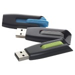 Store 'n' Go V3 - USB flash drive - 16 GB - USB 3.0 - gray, blue, green (pack of 3)