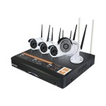 Plustek NVR Wireless Kit - DVR + camera(s) - wireless, wired - 4 channels - 4 camera(s) NW414K00HD000-G11