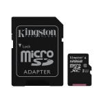 Kingston Digital 128GB microSDXC Class 10 UHS-I 45MB/s Read Card + SD Adapter SDC10G2/128GB