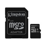 Kingston Digital 8GB microSDHC Class 10 UHS-I 45MB/s Read Card + SD Adapter SDC10G2/8GB