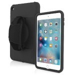 Capture Rugged Multi-Layer Case with Removable Hand Strap for iPad mini 4 - Black/Black