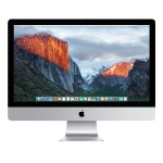 """27"""" iMac with Retina 5K display, Quad-Core Intel Core i5 3.2GHz, 8GB RAM, 3TB Fusion Drive, AMD Radeon R9 M380 with 2GB of GDDR5 memory, Two Thunderbolt 2 ports, 802.11ac Wi-Fi, Apple Numeric Keyboard, Apple Mouse - Late 2015"""